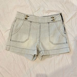 Hudson sailor / train conductor denim shorts